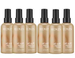 Аргановое масло для блеска Redken All Soft SET 6 шт