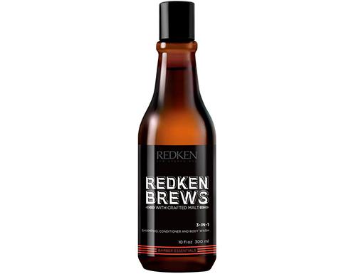 Шампунь 3 in 1 для мужчин Redken Brews