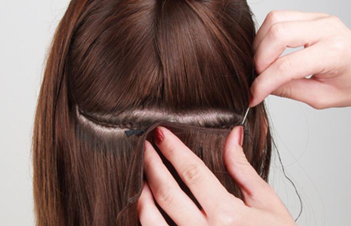 Как выполняется наращивание волос